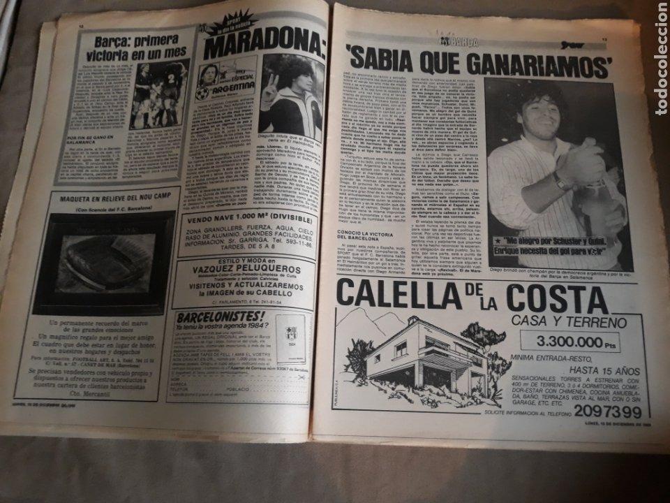 Coleccionismo deportivo: SPORT N° 1463. 12 DICIEMBRE 1983 SALAMANCA 1 BARCA 3 .ESPAÑOL 2 VALLADOLID 0. - Foto 7 - 236501400