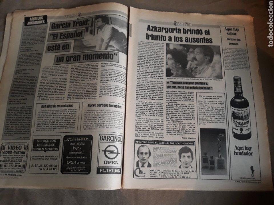 Coleccionismo deportivo: SPORT N° 1463. 12 DICIEMBRE 1983 SALAMANCA 1 BARCA 3 .ESPAÑOL 2 VALLADOLID 0. - Foto 9 - 236501400