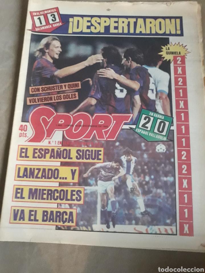 SPORT N° 1463. 12 DICIEMBRE 1983 SALAMANCA 1 BARCA 3 .ESPAÑOL 2 VALLADOLID 0. (Coleccionismo Deportivo - Revistas y Periódicos - Sport)