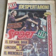 Coleccionismo deportivo: SPORT N° 1463. 12 DICIEMBRE 1983 SALAMANCA 1 BARCA 3 .ESPAÑOL 2 VALLADOLID 0.. Lote 236501400