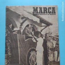 Coleccionismo deportivo: PERIODICO MARCA 1948 IV JUEGOS NACIONALES DEL FRENTE DE JUVENTUDES 48 FRANCO. Lote 236503890