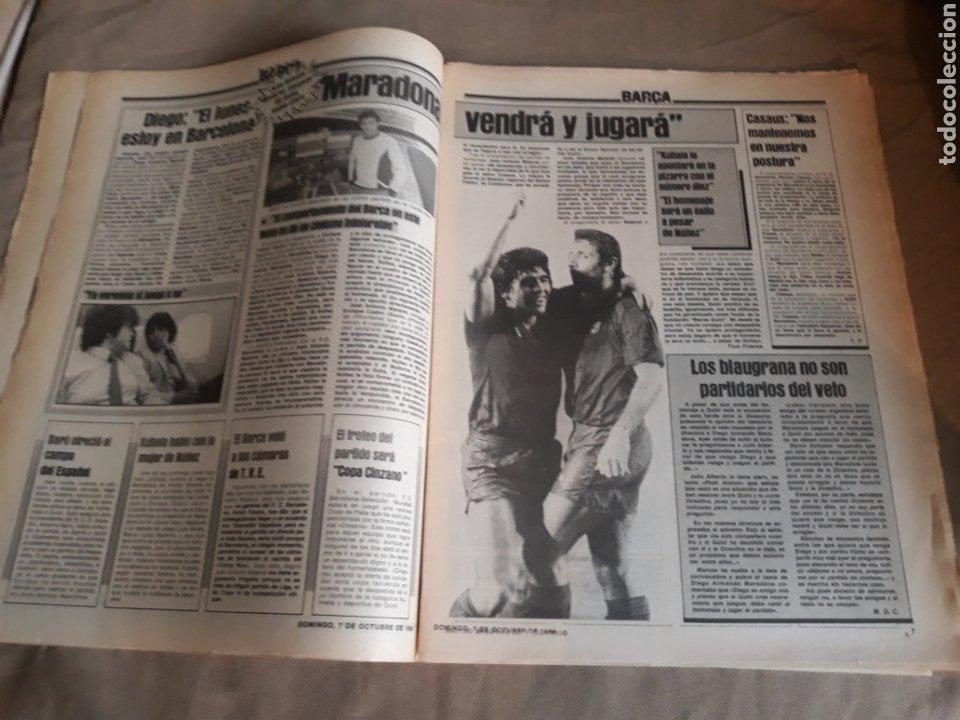 Coleccionismo deportivo: SPORT N°1769 . 7 OCTUBRE 1984 . MARADONA EMPERADOR EN NAPOLES . CAPITULO V SECUESTRO DE QUINI. GODO - Foto 3 - 236504175