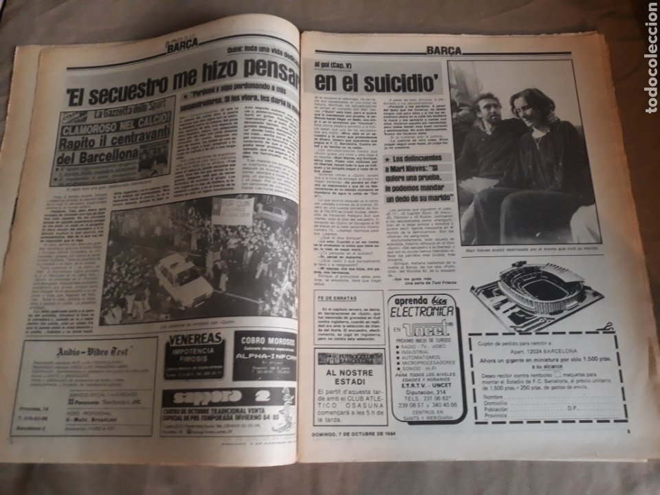 Coleccionismo deportivo: SPORT N°1769 . 7 OCTUBRE 1984 . MARADONA EMPERADOR EN NAPOLES . CAPITULO V SECUESTRO DE QUINI. GODO - Foto 4 - 236504175