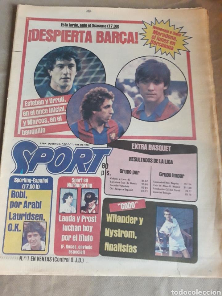 SPORT N°1769 . 7 OCTUBRE 1984 . MARADONA EMPERADOR EN NAPOLES . CAPITULO V SECUESTRO DE QUINI. GODO (Coleccionismo Deportivo - Revistas y Periódicos - Sport)