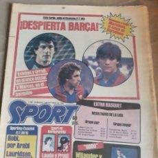 Coleccionismo deportivo: SPORT N°1769 . 7 OCTUBRE 1984 . MARADONA EMPERADOR EN NAPOLES . CAPITULO V SECUESTRO DE QUINI. GODO. Lote 236504175