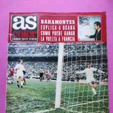 Coleccionismo deportivo: REVISTA AS COLOR Nº 37 1972 POSTER CONCHITA PUIG - BAHAMOTES - OCAÑA - GARATE - MANUEL RAGA BASKET. Lote 236527540