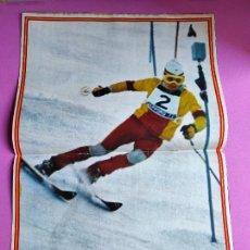 Coleccionismo deportivo: REVISTA AS COLOR Nº 40 1972 POSTER PAQUITO FERNANDEZ OCHO MEDALLA ORO JJOO SAPPORO - CARRASCO. Lote 236531450