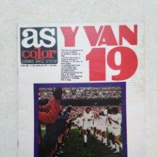 Coleccionismo deportivo: AS COLOR, Y VAN 19, PIRRI CUENTA: ASÍ GANAMOS LA LIGA ( PÓSTER EN PÁGINAS CENTRALES ). Lote 236636490