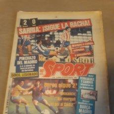 Coleccionismo deportivo: SPORT N°1448. 28 NOVIEMBRE 1983 . CADIZ 1 BARCA 1 . ESPAÑOL 2 GIJON 0 .MADRID 0 BILBAO 0. Lote 236686335