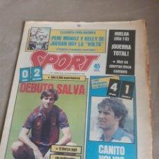 Coleccionismo deportivo: SPORT N°1734 12 SEPTIEMBRE 1984 .BARCA 0 BILBAO 2 .ESPAÑOL 4 ZARAGOZA 1. RACING DE SANTANDER .. Lote 236691100