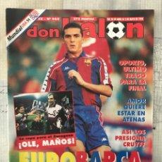 Coleccionismo deportivo: FÚTBOL DON BALÓN 965 - POSTER ZARAGOZA - LOGROÑÉS - AMOR - FINAL COPA FINAL UEFA - FONSECA - USA 94. Lote 236691630