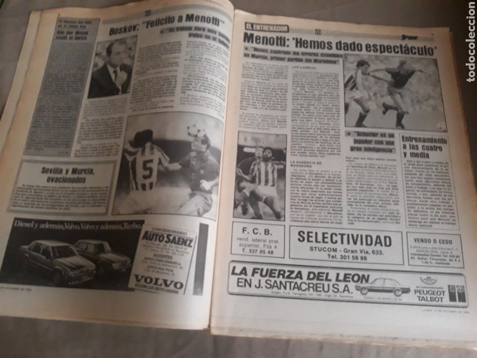 Coleccionismo deportivo: SPORT N°1400.10 OCTUBRE 1983. BARCA 4 GIJON 0. VALENCIA 4 ESPAÑOL 0.ZARAGOZA 3 MADRID 1 - Foto 4 - 236692820