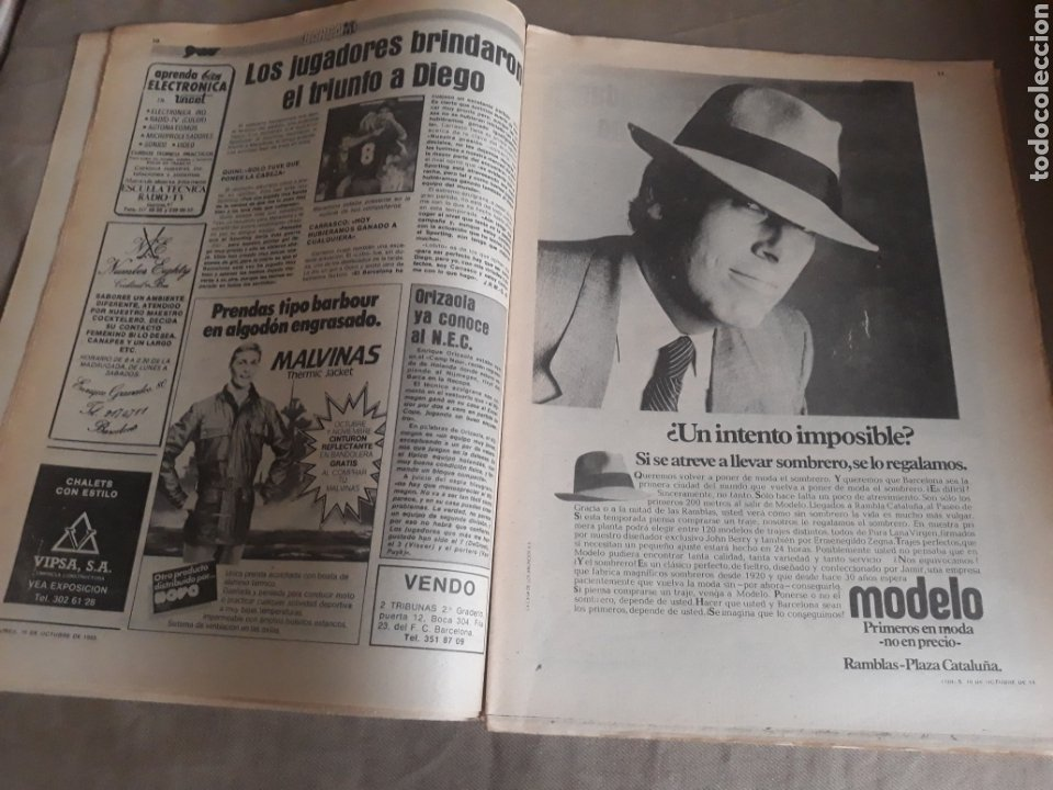 Coleccionismo deportivo: SPORT N°1400.10 OCTUBRE 1983. BARCA 4 GIJON 0. VALENCIA 4 ESPAÑOL 0.ZARAGOZA 3 MADRID 1 - Foto 5 - 236692820