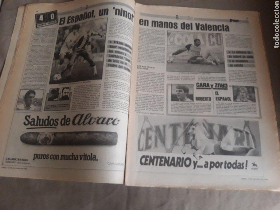 Coleccionismo deportivo: SPORT N°1400.10 OCTUBRE 1983. BARCA 4 GIJON 0. VALENCIA 4 ESPAÑOL 0.ZARAGOZA 3 MADRID 1 - Foto 6 - 236692820