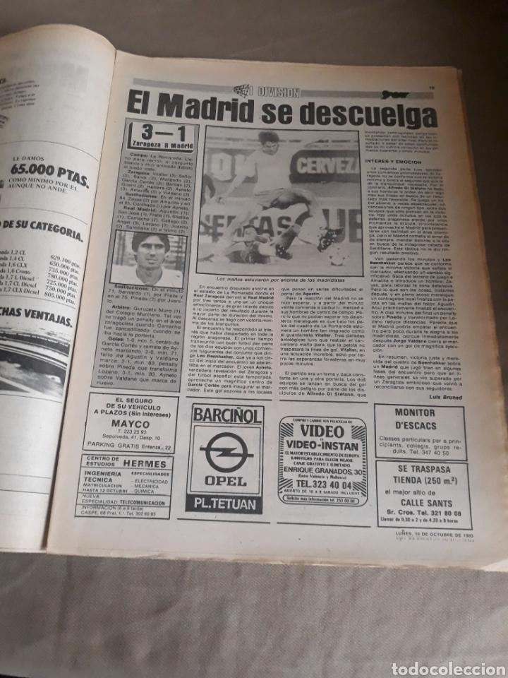 Coleccionismo deportivo: SPORT N°1400.10 OCTUBRE 1983. BARCA 4 GIJON 0. VALENCIA 4 ESPAÑOL 0.ZARAGOZA 3 MADRID 1 - Foto 8 - 236692820