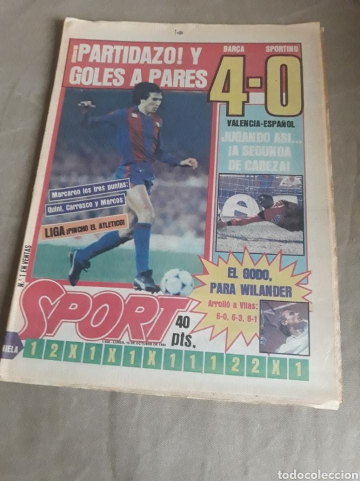 SPORT N°1400.10 OCTUBRE 1983. BARCA 4 GIJON 0. VALENCIA 4 ESPAÑOL 0.ZARAGOZA 3 MADRID 1 (Coleccionismo Deportivo - Revistas y Periódicos - Sport)