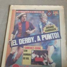 Coleccionismo deportivo: SPORT N°1485 14 DICIEMBRE 1983.EL DERBY, A PUNTO. BARCA - ESPAÑOL .. Lote 236694190