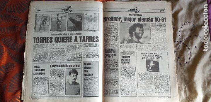 Coleccionismo deportivo: SPORT-1981-Nº615-EL COLOSO CAMP NOU-36 PAGINAS-SANCHEZ-UDO LATTEK-MAGUREGUI-TORRES-BREITNER-AYFUCH - Foto 9 - 21071799