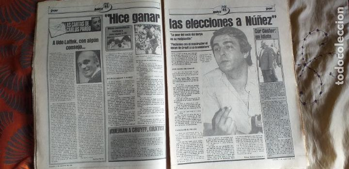 Coleccionismo deportivo: SPORT-1981-Nº615-EL COLOSO CAMP NOU-36 PAGINAS-SANCHEZ-UDO LATTEK-MAGUREGUI-TORRES-BREITNER-AYFUCH - Foto 11 - 21071799