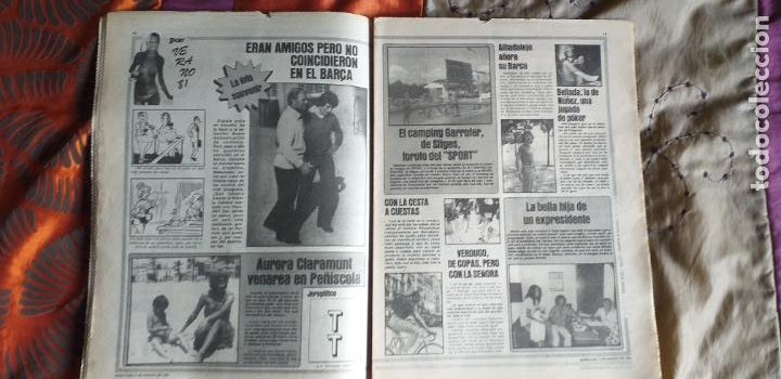 Coleccionismo deportivo: SPORT-Nº612-1981-SCHUSTER-POSTER CENTRAL PLANTILLA ESPAÑOL 82-36 PAGINAS - Foto 9 - 21071575