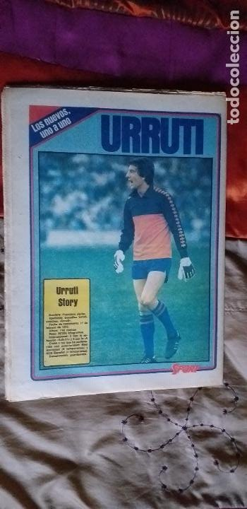 Coleccionismo deportivo: SPORT-Nº608-1981-36 PAGINAS-URRUTI-MORAN-UDO LATTEK-AMADOR-CUSTER-CANITO-CARRASCO-LUIS ARAGONES - Foto 2 - 21071671