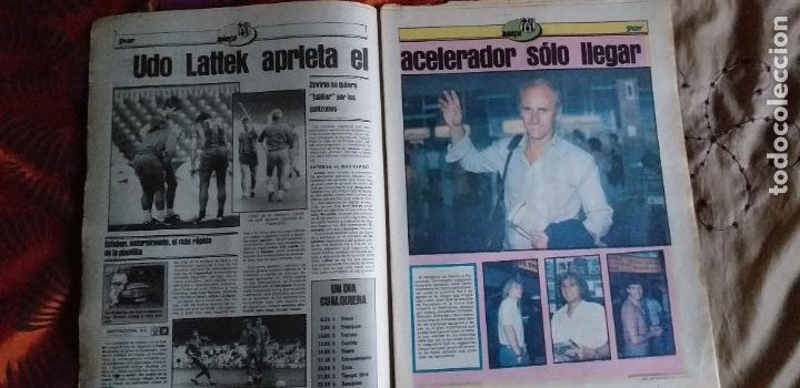 Coleccionismo deportivo: SPORT-Nº608-1981-36 PAGINAS-URRUTI-MORAN-UDO LATTEK-AMADOR-CUSTER-CANITO-CARRASCO-LUIS ARAGONES - Foto 14 - 21071671