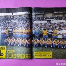 Collectionnisme sportif: REVISTA DON BALON Nº 681 POSTER CADIZ CF 88/89 LIGA 1988/1989 - CRUYFF BARÇA - ATKINSON. Lote 237031770