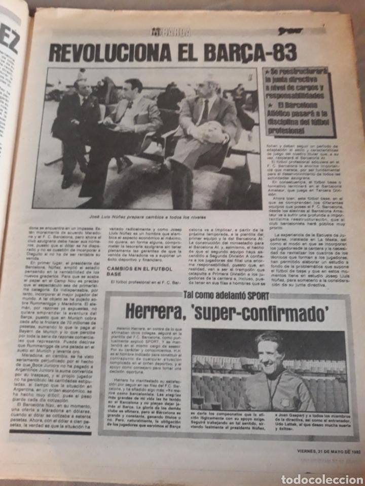Coleccionismo deportivo: SPORT 1982 BARCA 83. QUINI. H. HERRERA . MELER . DI STEFANO .ESPAÑA 82 HIGUERAS .HINAULT. ARNOUX - Foto 2 - 237064540
