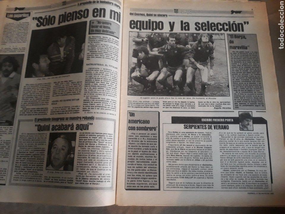 Coleccionismo deportivo: SPORT 1982 BARCA 83. QUINI. H. HERRERA . MELER . DI STEFANO .ESPAÑA 82 HIGUERAS .HINAULT. ARNOUX - Foto 3 - 237064540