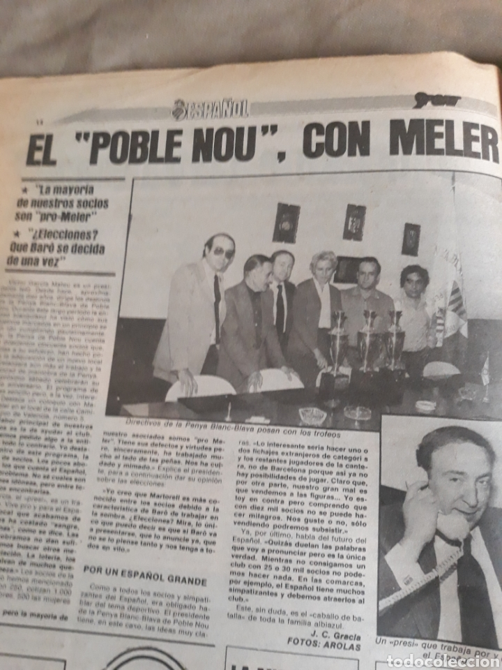 Coleccionismo deportivo: SPORT 1982 BARCA 83. QUINI. H. HERRERA . MELER . DI STEFANO .ESPAÑA 82 HIGUERAS .HINAULT. ARNOUX - Foto 5 - 237064540