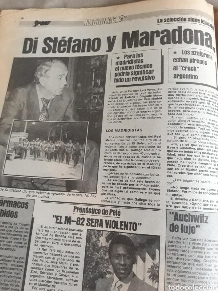 Coleccionismo deportivo: SPORT 1982 BARCA 83. QUINI. H. HERRERA . MELER . DI STEFANO .ESPAÑA 82 HIGUERAS .HINAULT. ARNOUX - Foto 6 - 237064540