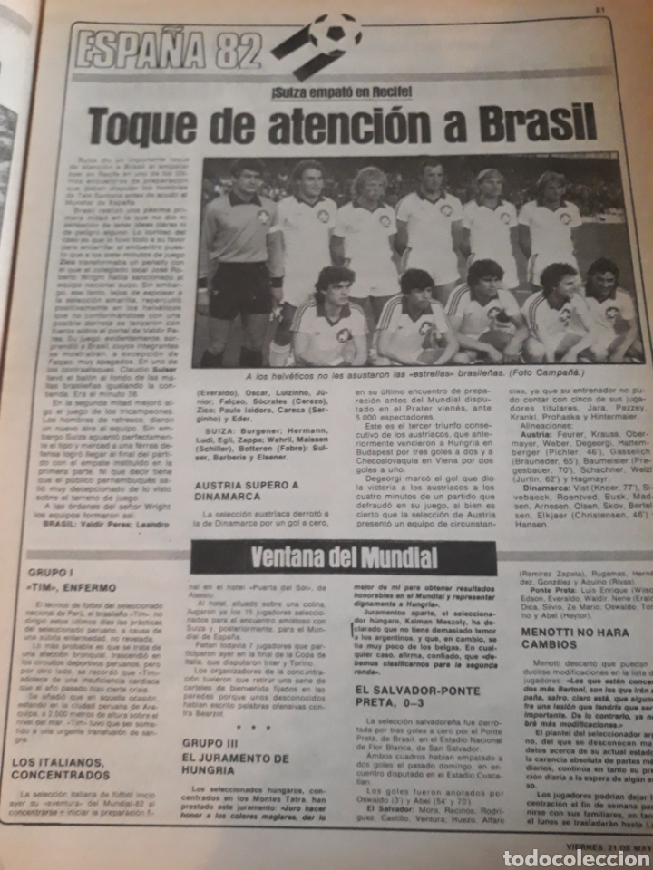 Coleccionismo deportivo: SPORT 1982 BARCA 83. QUINI. H. HERRERA . MELER . DI STEFANO .ESPAÑA 82 HIGUERAS .HINAULT. ARNOUX - Foto 7 - 237064540