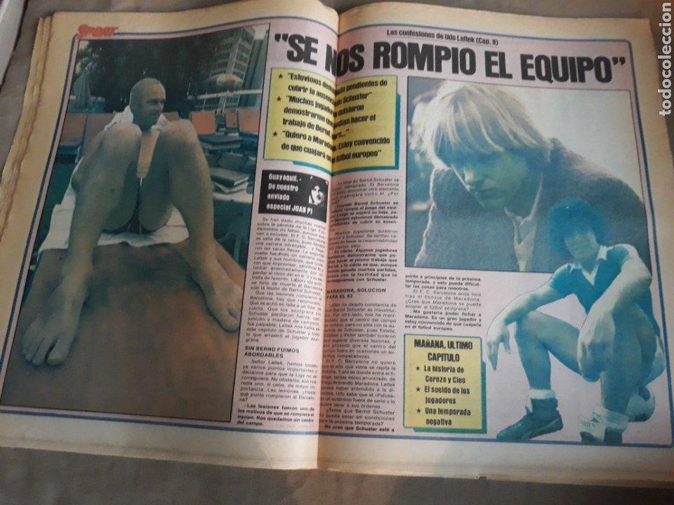 Coleccionismo deportivo: SPORT 1982 BARCA 83. QUINI. H. HERRERA . MELER . DI STEFANO .ESPAÑA 82 HIGUERAS .HINAULT. ARNOUX - Foto 8 - 237064540