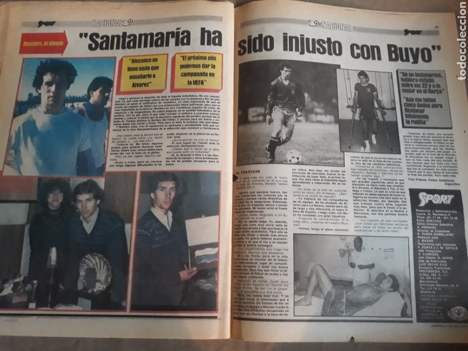 Coleccionismo deportivo: SPORT 1982 BARCA 83. QUINI. H. HERRERA . MELER . DI STEFANO .ESPAÑA 82 HIGUERAS .HINAULT. ARNOUX - Foto 12 - 237064540