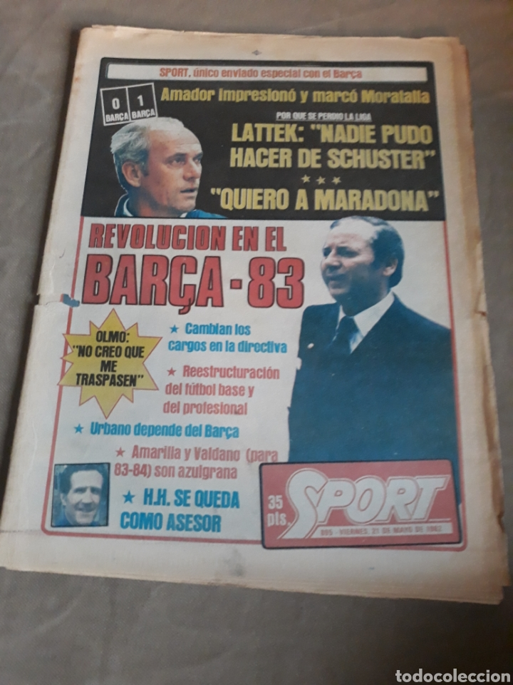 SPORT 1982 BARCA 83. QUINI. H. HERRERA . MELER . DI STEFANO .ESPAÑA 82 HIGUERAS .HINAULT. ARNOUX (Coleccionismo Deportivo - Revistas y Periódicos - Sport)