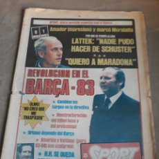 Coleccionismo deportivo: SPORT 1982 BARCA 83. QUINI. H. HERRERA . MELER . DI STEFANO .ESPAÑA 82 HIGUERAS .HINAULT. ARNOUX. Lote 237064540