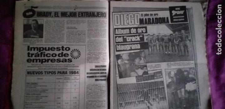 Coleccionismo deportivo: SPORT-Nº1492-1984-48 PAGINAS-MENOTTI- MARADONA-AZCKARGORTA-GIMENEZ - Foto 13 - 21071351