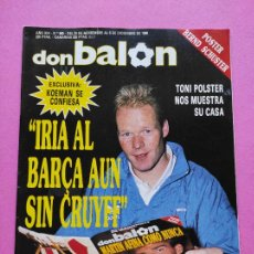 Coleccionismo deportivo: REVISTA DON BALON Nº 685 1988 POSTER SCHUSTER REAL MADRID 88/89 - KOEMAN - POLSTER. Lote 237267460