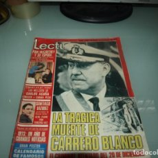 Collectionnisme sportif: LECTURAS, TRAGICA MUERTE DE CARRERO BLANCO, 4 DE ENERO DE 1974. Lote 237340080