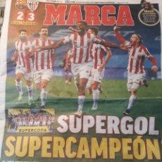 Coleccionismo deportivo: MARCA 18 DE ENERO 2021 BARCA 2 BILBAO 3 . SUPERGOL ,SUPERCAMPEON DE LA SUPERCOPA ATHLETIC DE BILBAO. Lote 287880663