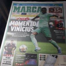 Coleccionismo deportivo: MARCA AÑO 2019. VINICIUS - MESSI BALON DE ORO - VILLARREAL 0 AT MADRID 0.JUANCHO PURA RAZA. Lote 237459225