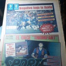 Coleccionismo deportivo: SPORT 1983 . ESPAÑOL 0 ATHLETIC 0 . MARADONA CUMPLE 23 AÑOS ..DERBY MADRID ATLÉTICO DE MADRID. Lote 237500490