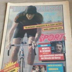 Coleccionismo deportivo: SPORT 1984 . LOBO CARRASCO . LIGA RECTA FINAL . ZUÑIGA ESPAÑOL .ESPAÑA - DINAMARCA.. Lote 237519905