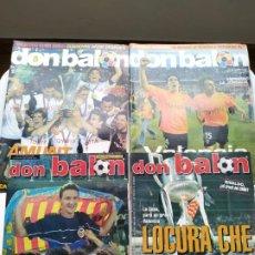 Coleccionismo deportivo: DON BALÓN - PACK ESPECIAL VALENCIA CAMPEÓN DON BALÓN. Lote 237646620