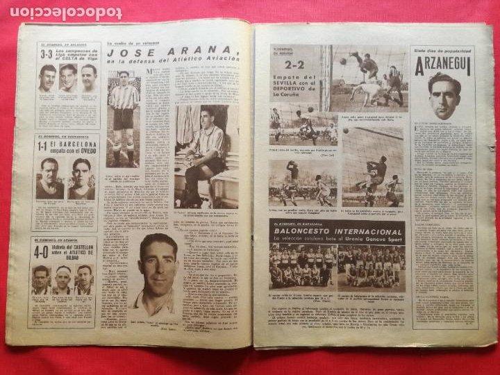 Coleccionismo deportivo: PERIODICO MARCA 1942 LIGA 41/42 ASCENSO REAL BETIS - MADRID-ATLETICO AVIACION CASTELLON 4-0 ATHLETIC - Foto 5 - 237646965