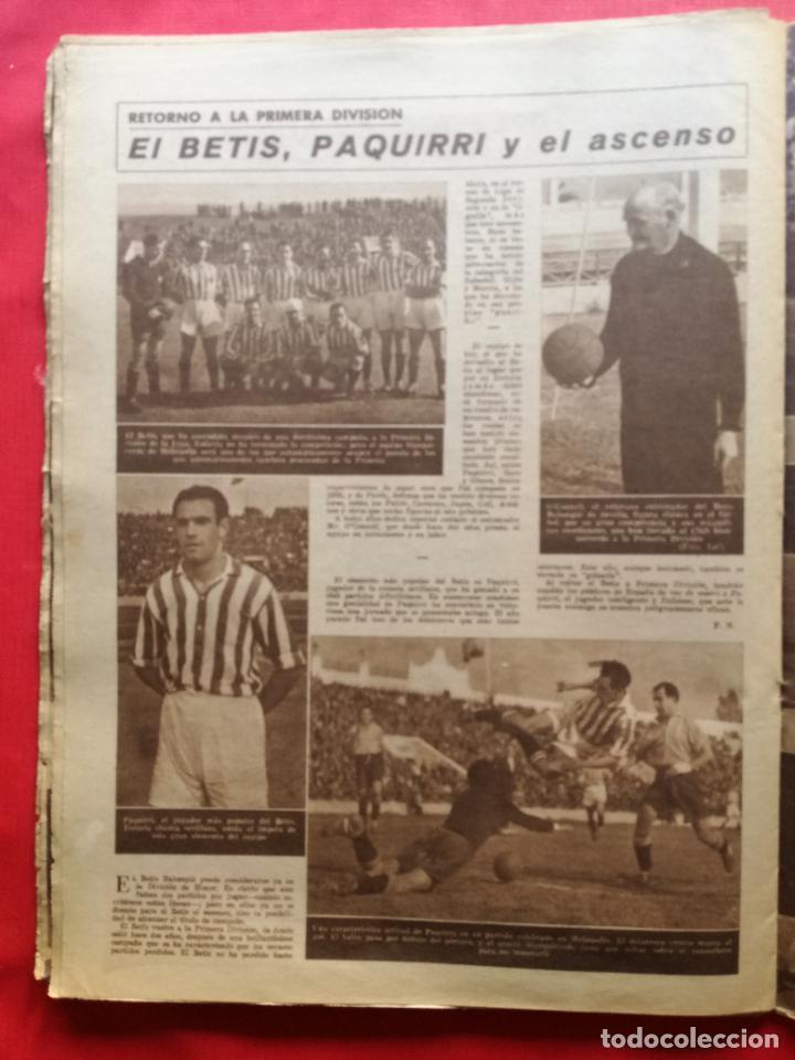 Coleccionismo deportivo: PERIODICO MARCA 1942 LIGA 41/42 ASCENSO REAL BETIS - MADRID-ATLETICO AVIACION CASTELLON 4-0 ATHLETIC - Foto 8 - 237646965