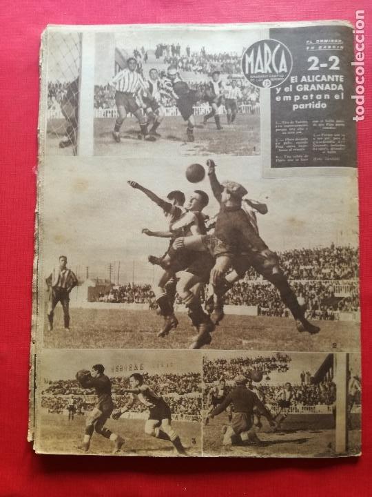 Coleccionismo deportivo: PERIODICO MARCA 1942 LIGA 41/42 ASCENSO REAL BETIS - MADRID-ATLETICO AVIACION CASTELLON 4-0 ATHLETIC - Foto 9 - 237646965