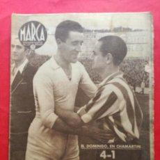 Coleccionismo deportivo: PERIODICO MARCA 1942 LIGA 41/42 ASCENSO REAL BETIS - MADRID-ATLETICO AVIACION CASTELLON 4-0 ATHLETIC. Lote 237646965