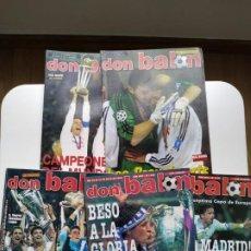 Coleccionismo deportivo: DON BALÓN - PACK ESPECIAL REAL MADRID CAMPEÓN EUROPA. Lote 237648490
