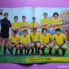 Colecionismo desportivo: REVISTA AS COLOR Nº 55 1972 POSTER CADIZ CF 71/72 - AJAX CAMPEON COPA EUROPA - BEN BAREK - GARATE. Lote 237666430